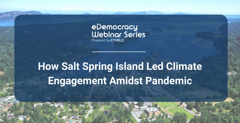 How Salt Spring Island Led Climate Engagement Amidst Pandemic